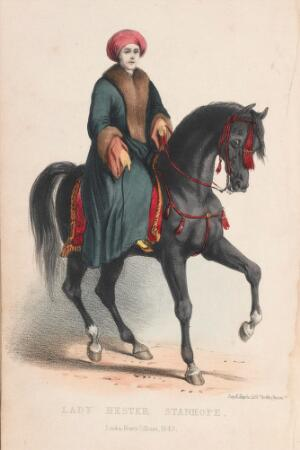 view Lady Hester Stanhope on horseback from her memoirs, as related by herself in conversations with her physician [C.L. Meryon]; comprising her opinions and anecdotes of some of the most remarkable persons of her time