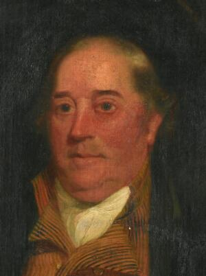 view Benjamin Jesty. Oil painting by M.W. Sharp, 1805.