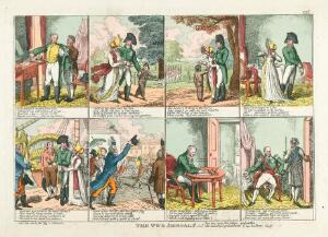 view A day in the life of Tsar Alexander I of Russia, in London, 1814. Coloured etching by C. Williams, 1814.