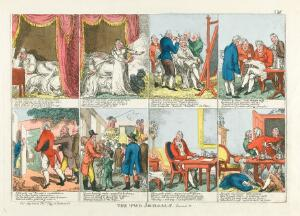 view A day in the life of George, Prince Regent, 1814. Coloured etching by C. Williams, 1814.