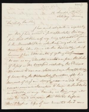 view Letter from W. Beatty to Lady Hamilton