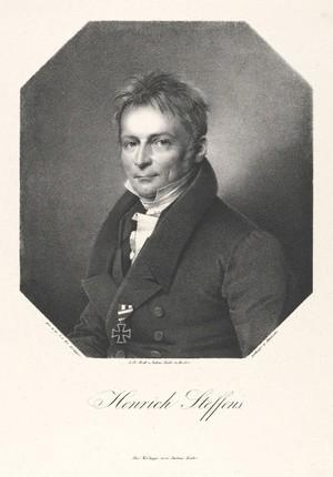 view Henrich Steffens. Lithograph by F. Jentzen, 1828, after F. Krüger.