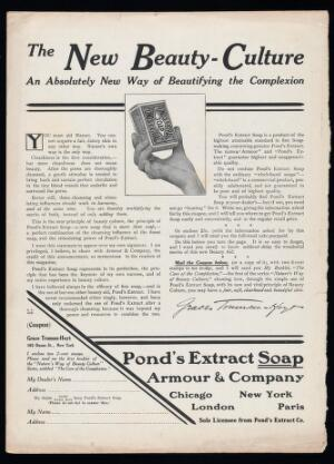 view The New Beauty-Culture, An Absolutely New Way of Beautifying the Complexion. Advertisement for Pond's Extract Soap
