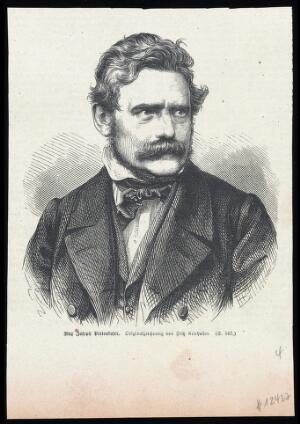 view Max Joseph von Pettenkofer. Wood engraving, 18--, after J. Kriehuber.