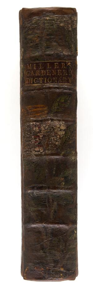 view Painted binding of The gardener's dictionary.