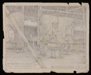 view Drawing by an unknown artist whilst in a POW camp