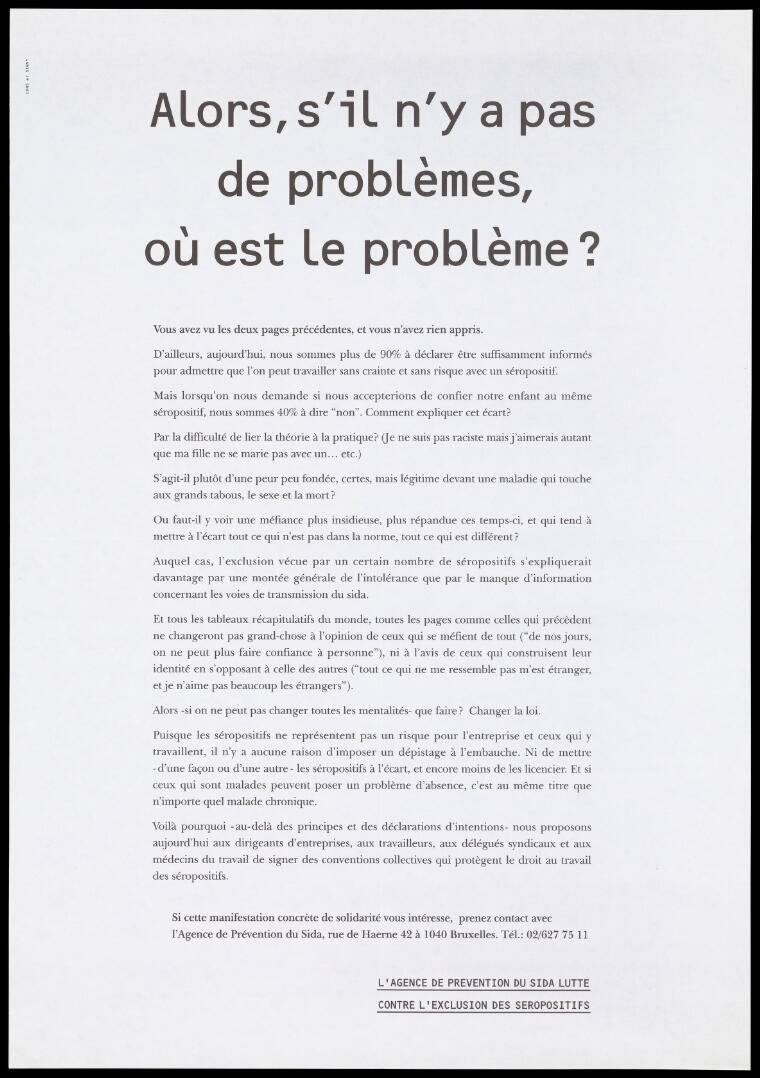 3933914c19041 A manifestation about AIDS and HIV issued by L agence de Prevention ...