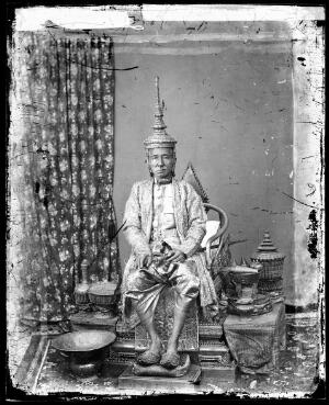 view The 1st King of Siam, King Mongkut, in state robes, Bangkok