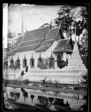 view River Menam, Siam [Thailand]. Photograph by John Thomson, 1865.