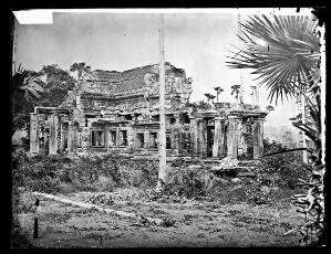 view Nakhon Thom [Angkor Wat], Cambodia. Photograph by John Thomson, 1866.
