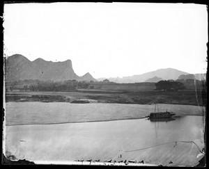 view Pearl river Kwangtung China.