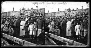 view Chinese crowd, Yangtze by John Thomson