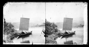 view River boat, Min River by John Thomson