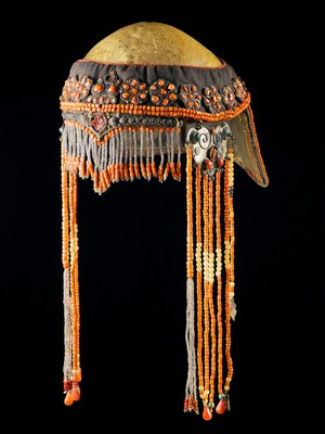 view Ceremonial headdress with a human skull, Nepal, 1701-1900