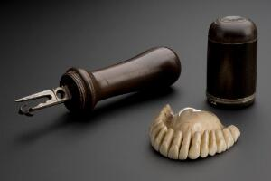 view Carving instrument used to make ivory dentures, Europe, 1701