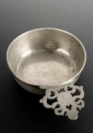view Pewter bleeding bowl, Europe, 1701-1900