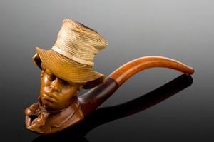 view Caved meerschaum pipe, Vienna, Austria, 1871-1890
