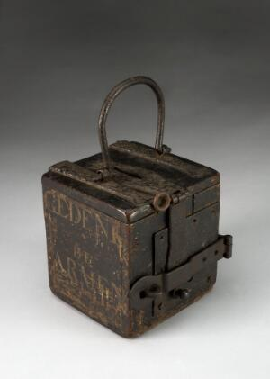 view Wooden alms box, Netherlands, 1601-1800