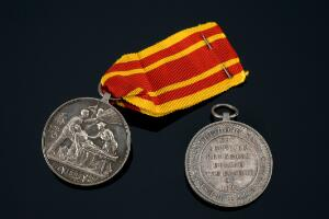 view Hong Kong plague medal, England, 1894