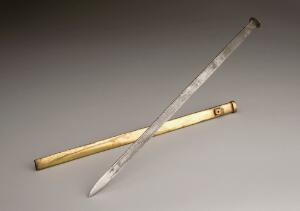 view Copy of a large lance used during plague epidemics in Marsei