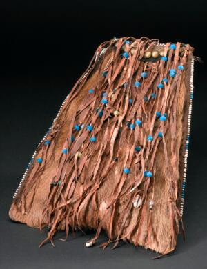 view Monkey-skin bag used by healers, Africa, 1880-1930