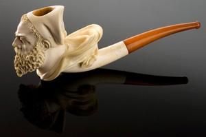view Meerschaum tobacco pipe, Paris, France, 1850-1915