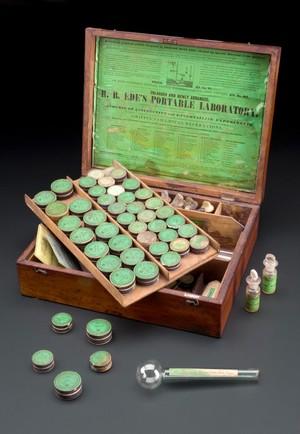 view Robert Best Ede's chemistry set, England, 1840-1900