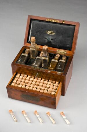 view Homeopathic medicine chest, Northamptonshire, England, 1801-