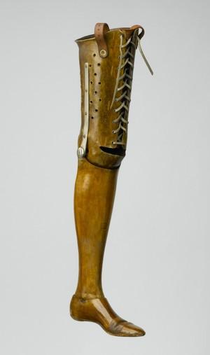 view Artificial left leg, London, England, 1861-1920