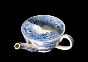 view Blue and white feeding cup, Staffordshire, England, 1820-186