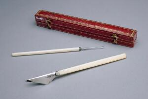 view Beer-type cataract knife and needle, cased, Paris, 1820-1866