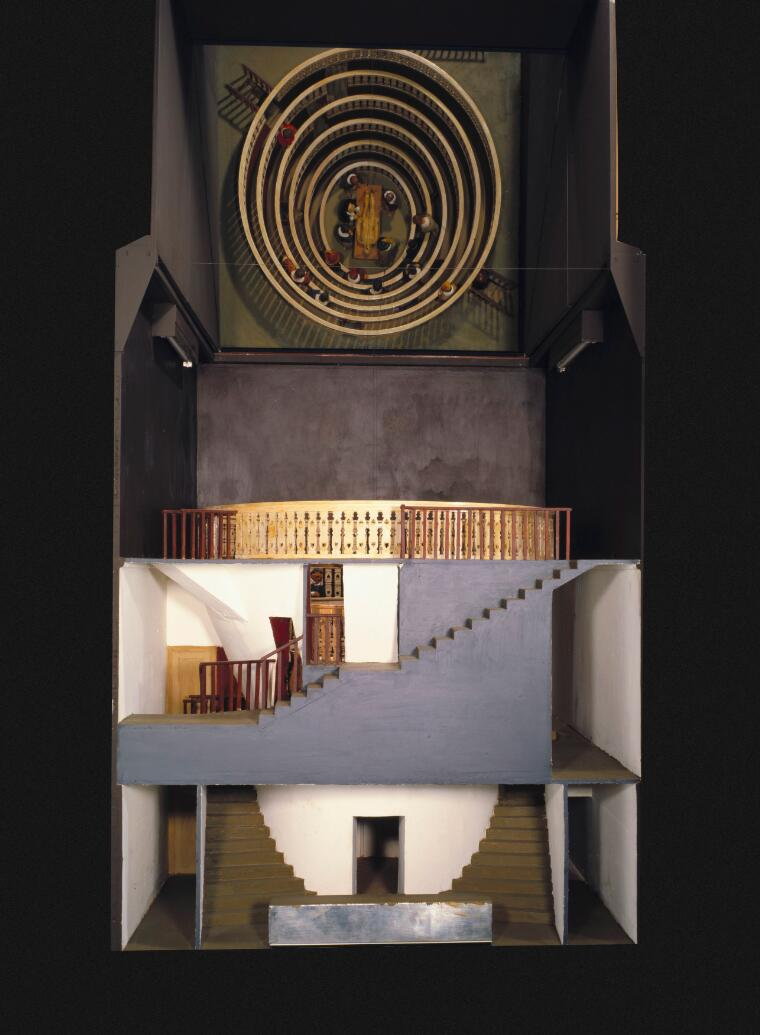 Scale model of anatomy theatre built at Padua in 1594, showing ...