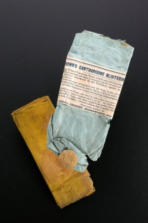 view Cantharidine blistering tissue in original wrapper, England,