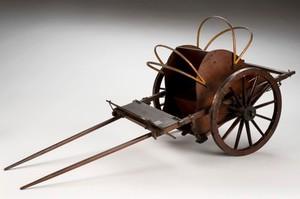 view Model of McAdam's military ambulance, England, 1850-1900