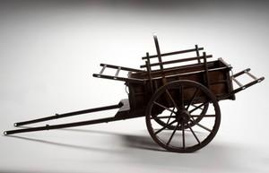 view Model of Prendergast's horse-drawn military ambulance, Engla
