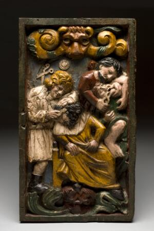 view Plaque showing dental and surgical operations, Europe, 1801-