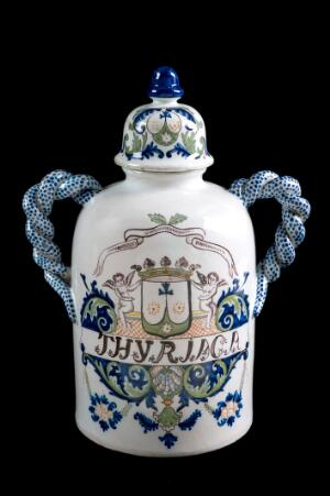 view Pharmacy storage jar used for Theriac, Bordeaux, France, 172