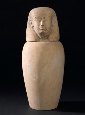 view Canopic jar, Egypt, 2000 BCE-100 CE
