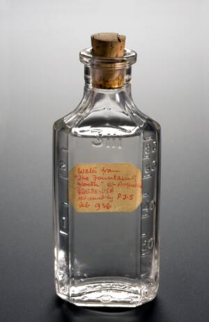 view Bottle of medicinal water from the 'Fountain of Youth', Unit