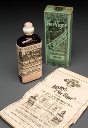 view Bottle of Huxley's 'Ner-Vigor', England, 1892-1943