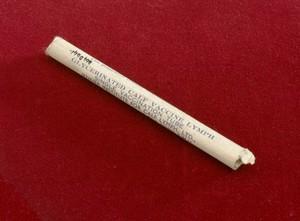 view Ampoule of smallpox vaccine in original carton, England, 190