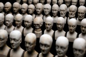 view Set of sixty miniature heads used in phrenology, Manchester,