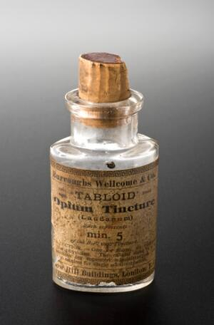 view Empty bottle for opium tincture, London, England, 1880-1940