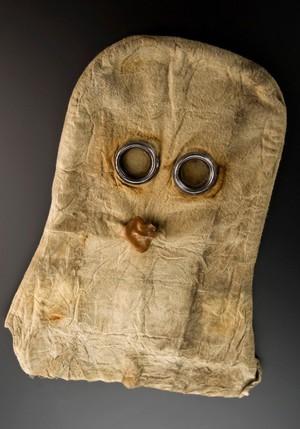 view Helmet-type gas mask, United Kingdom, 1915