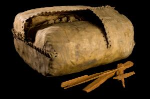 view Bag for cinchona bark, Peru, 1777-1785