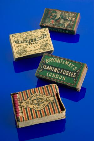 view Bryant & May 'Pearl' safety matches, London, England, 1890-1