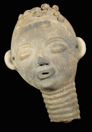 view Memorial head, Gold Coast, Ghana, 1890-1920