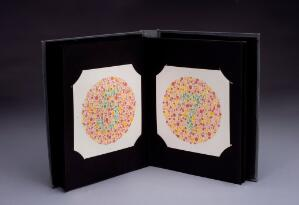 view Ishihara colour blindness test, London, England, 1948