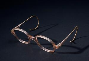 view Pink coil spring spectacles, National Health Service issue,