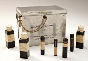 view 'Tabloid' medicine chest used for a transatlantic balloon fl